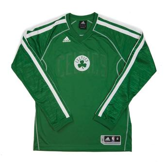 Boston Celtics Adidas Green On Court Shooter Long Sleeve Performance Tee Shirt (Adult L)