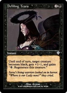 Magic the Gathering Invasion Single Defiling Tears Foil