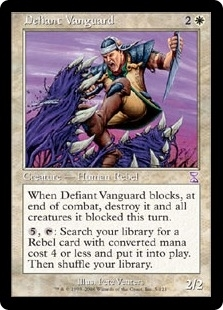Magic the Gathering Nemesis Single Defiant Vanguard Foil
