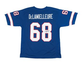 Joe DeLamielleure Autographed Buffalo Bills Blue Football Jersey JSA