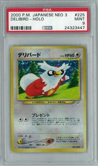 Pokemon Japanese Neo Revelation 3 Awakening Legends Delibird Holo Rare PSA 9