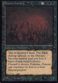 Magic the Gathering Alpha Single Demonic Hordes - MODERATE PLAY (MP)