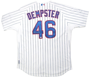 Ryan Dempster Autographed Game Issued Chicago Cubs Authentic Jersey (PSA COA)