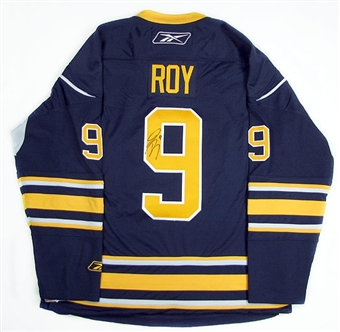 Derek Roy Autographed Buffalo Sabres Blue Hockey Jersey (Home)