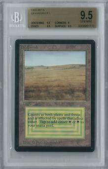 Magic the Gathering Beta Single Savannah BGS 9.5 (9.5, 9, 9.5, 9.5)