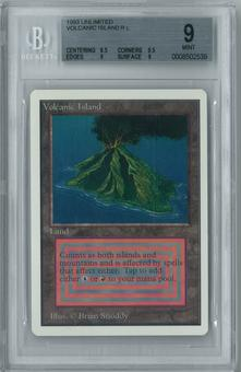 Magic the Gathering Unlimited Single Volcanic Island BGS 9.0 (8.5, 9.5, 9, 9)