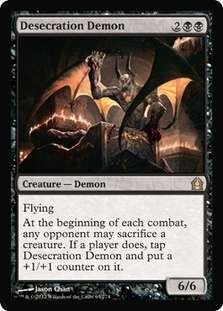 Magic the Gathering Return to Ravnica Single Desecration Demon - NEAR MINT (NM)