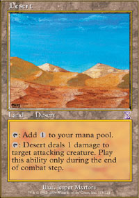 Magic the Gathering Time Spiral Single Desert - NEAR MINT (NM)