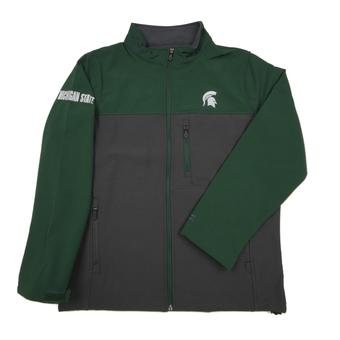 Michigan State Spartans Colosseum Green & Grey Yukon II Full Zip Jacket (Adult XXL)