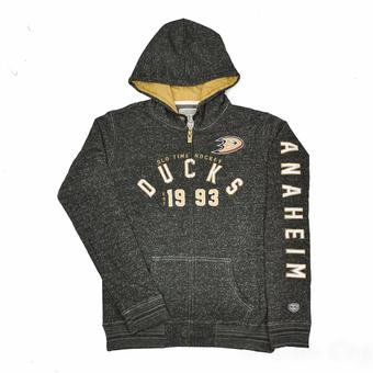 Anaheim Ducks Old Time Hockey Black Brittany Full Zip Fleece Hoodie (Womens S)