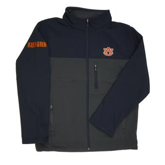 Auburn Tigers Colosseum Navy & Grey Yukon II Softshell Full Zip Jacket