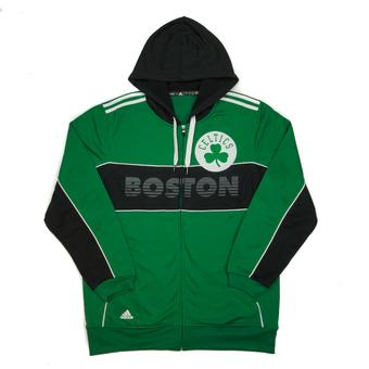 Boston Celtics Adidas Green & Black The Chosen Few 3-Stripe Full Zip Hoodie (Adult XXL)