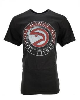 Atlanta Hawks Junk Food Dark Gray Logo Tee Shirt (Adult S)