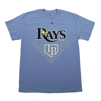Tampa Bay Rays Majestic Light Blue Winner Winner Tee Shirt