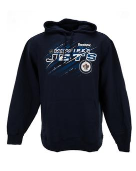 Winnipeg Jets Reebok Navy Fleece Hoodie (Adult M)