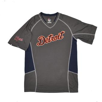 Detroit Tigers Majestic Gray Fast Action Performance Tee Shirt (Adult L)