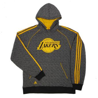 Los Angeles Lakers Adidas Grey Static Fleece Hoodie (Adult L)