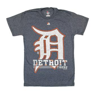 Detroit Tigers Majestic Navy 6th Inning Dual Blend Tee Shirt (Adult XL)