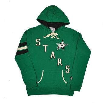 Dallas Stars Old Time Hockey Green Nadia Fleece Hoodie (Womens M)