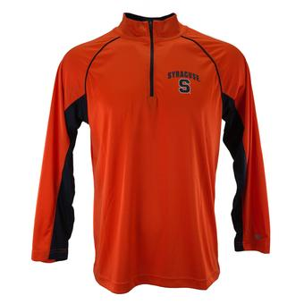 Syracuse Orange Colosseum Orange Lineman 1/4 Zip Performance Long Sleeve Tee Shirt (Adult M)