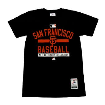 San Francisco Giants Majestic Black Team Property Tee Shirt (Adult M)