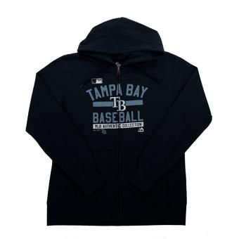 Tampa Bay Rays Majestic Navy Team Property Full Zip Fleece Hoodie