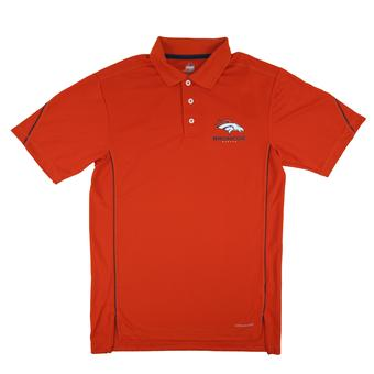 Denver Broncos Majestic Orange Field Classics Cool Base Performance Polo (Adult M)
