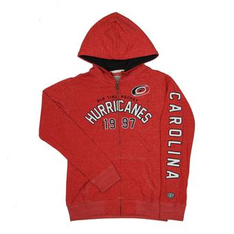 Carolina Hurricanes Old Time Hockey Red Brittany Full Zip Fleece Hoodie (Womens S)