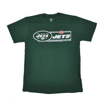 New York Jets Majestic Green Critical Victory VII Tee Shirt (Adult L)