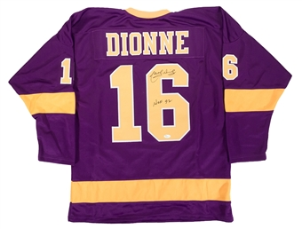 Marcel Dionne Autographed Los Angeles Kings Purple Jersey (JSA)
