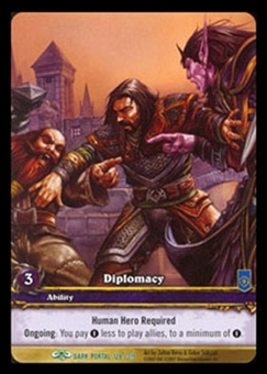 WoW Dark Portal Single Diplomacy (TDP-128) EXTENDED ART (EA)