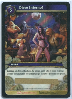 World of Warcraft Illidan Single Disco Inferno! ITALIAN LOOT CARD - UNSCRATCHED