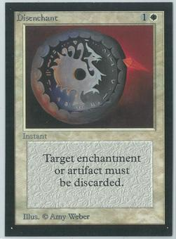 Magic the Gathering Beta Artist Proof Disenchant - SIGNED BY AMY WEBER ON THE BACK