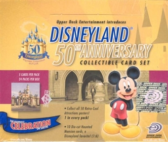 Disneyland 50th Anniversary Hobby Box (2005 Upper Deck)