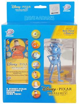 Disney Pixar Treasures Trading Cards Box with Flik Figure