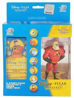 Disney Pixar Treasures Trading Cards Box with Mr. Incredible Figure