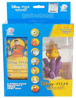 Disney Pixar Treasures Trading Cards Box with Nemo Figure