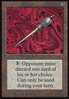 Magic the Gathering Beta Single Disrupting Scepter - SLIGHT PLAY (SP)