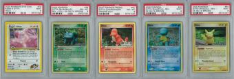 Pokemon Ditto as Four Starters LOT PSA 9 & 8