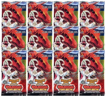 Upper Deck Dinosaur King Series 2 Colossal Team Battle Booster Pack (Lot of 12)