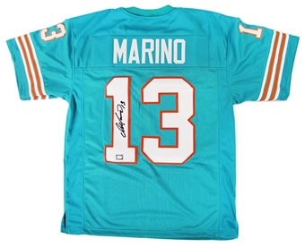 Dan Marino Autographed Miami Dolphins Teal Football Jersey