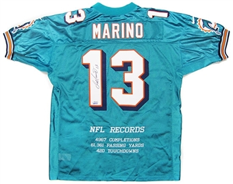 Dan Marino Autographed Miami Dolphins Authentic Stat Jersey (UDA COA)