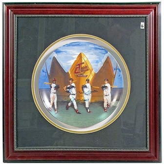 Triple Crown Winners Autographed & Framed Commemorative Plate