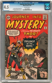 Journey Into Mystery #87 CGC 4.5 (OW) *1301348006*