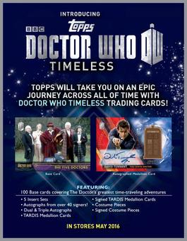 Doctor Who Timeless Trading Cards 12-Box Case (Topps 2016) (Presell)