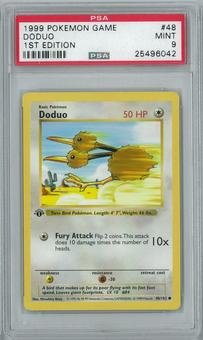 Pokemon Base Set 1st ed. Doduo 48/102 Common PSA 9