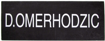 Damir Omerhodzic NBA Draft Board Basketball Nameplate (One of a Kind!)