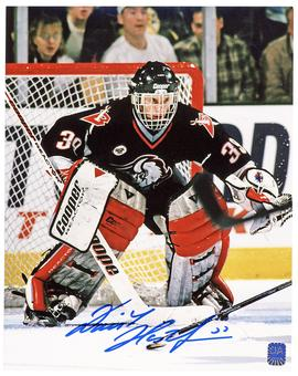 Dominik Hasek Autographed Buffalo Sabres 8x10 Black Jersey Photo