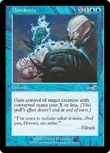 Magic the Gathering Nemesis Single Dominate Foil