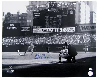 Don Larsen Autographed New York Yankees 16x20 Photo Leaf COA